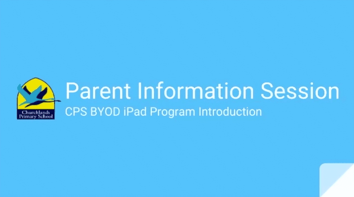 CPS BYOD iPad Introduction Session