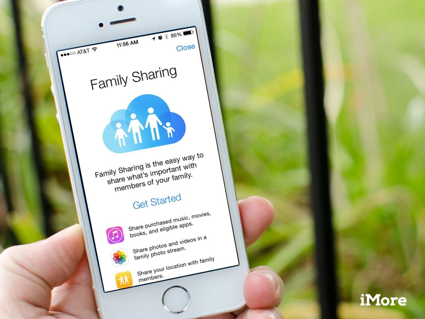 How to set up family sharing on the iPad